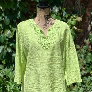 Chartreuse Tunic from Alfred Dunner